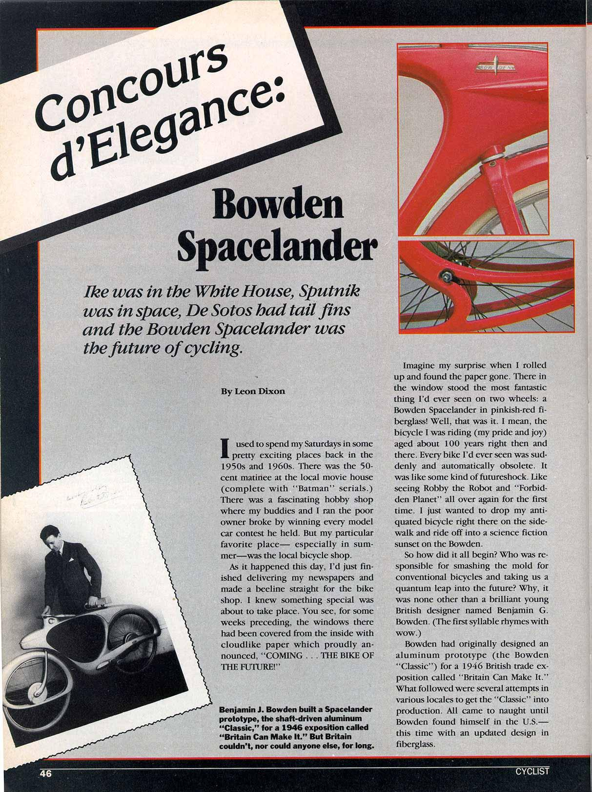 Bowden Spacelander Reproduction